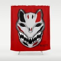 werewolf Shower Curtains featuring WereWolf by FWAETI