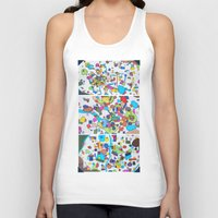 cities Tank Tops featuring Sister Cities by theartistmakena