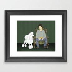 Meet the Poodle Framed Art Print