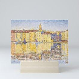 """Paul Signac """"Maisons du Port, Saint-Tropez"""" Mini Art Print"""
