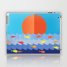 Fish fishing for friends Laptop & iPad Skin