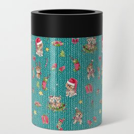 A Very Yorkie Christmas Can Cooler