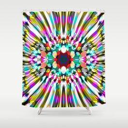 Hallucination flower Shower Curtain