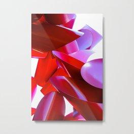 Crimson Fortress Metal Print