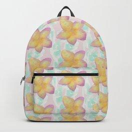frangipani pattern Backpack