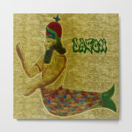 Mesopotamian  God Dagon Metal Print