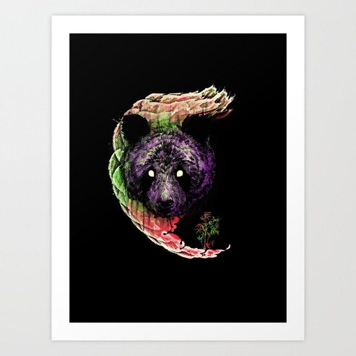 Panda head Art Print