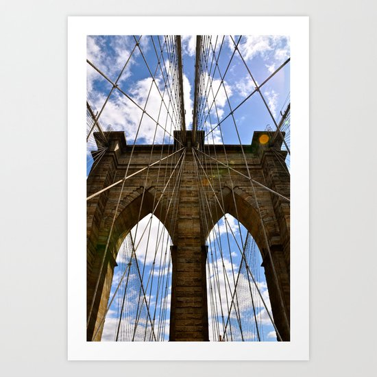 Brooklyn Bridge In Color Art Print