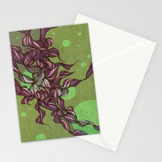 Waves #3 green Stationery Cards