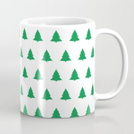 seamless green christmas tree pattern Coffee Mug