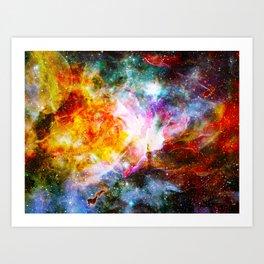 nebula space universe Art Print