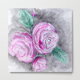The pink roses Metal Print