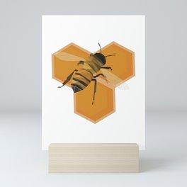 Low Poly Honeybee; Save the Bees Mini Art Print