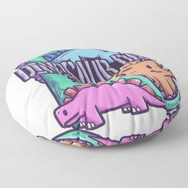 Dinoday family Triceratops Birthday Floor Pillow