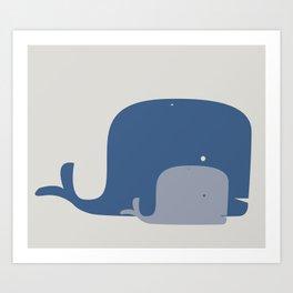 Whales! Art Print