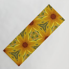 Retro Sunflower Pattern Yoga Mat