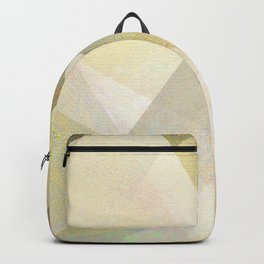 Gold and White - Digital Geometric Texture Backpack
