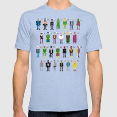 Pixel Supervillain Alphabet 2X-LARGE Mens Fitted Tee Tri-Blue