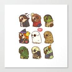 Puglie Halloween Canvas Print