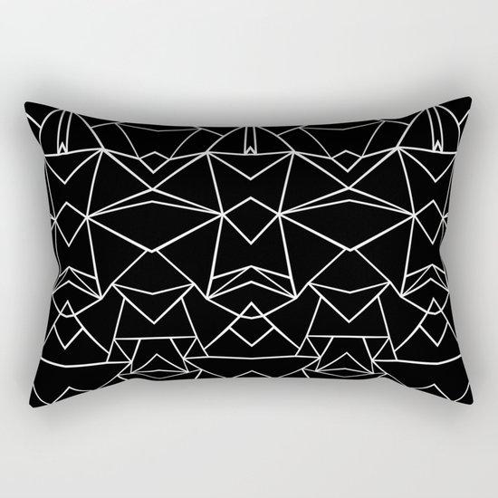 Ab Mirror Black Rectangular Pillow
