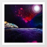 The Electric Ocean Art Print