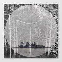 moonrise Canvas Prints featuring MOONRISE by Mari