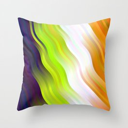 wavy lines pattern std Throw Pillow