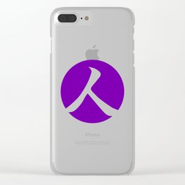 Royal Purple Person Clear iPhone Case