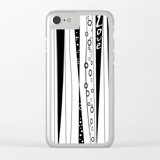 With love .2 Clear iPhone Case