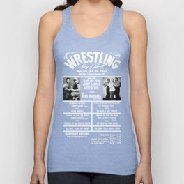 #11-B Memphis Wrestling Window Card Unisex Tank Top