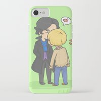 johnlock iPhone & iPod Cases featuring Johnlock Kisses by KalesButt