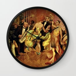 Metropolis No. 2 - Gross Stadt by Otto Dix Wall Clock