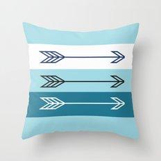 Arrows 3 Aqua Throw Pillow