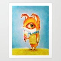 Tiny Mr. Fox Art Print