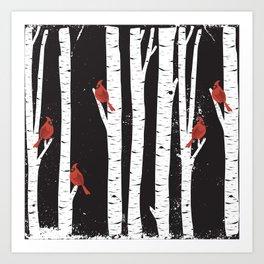 Northern Cardinal Birds Art Print