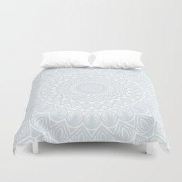 Minimal Minimalistic Light Cool Gray Mandala Duvet Cover