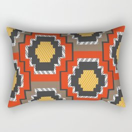 Shapes in red and grey Rectangular Pillow