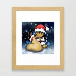 Santa Chase Framed Art Print
