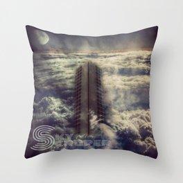 Sky Scraper ( + text ) Throw Pillow