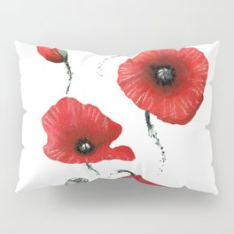 Poppies colored Pillow Sham