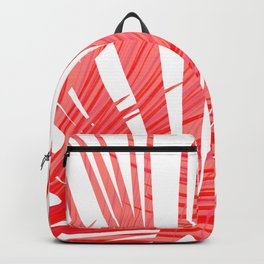 Tropical Flashy Fan Palm Leaves Abstract Design Backpack