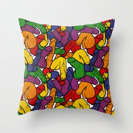 Schlong Song in Rainbow, All the Penis! Throw Pillow
