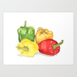 b01803dc0bbf Bell Peppers Art Print