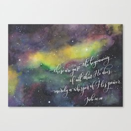 Merely a whisper Canvas Print