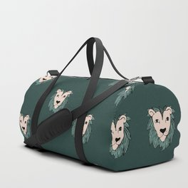 Cool winter safari lion love Duffle Bag