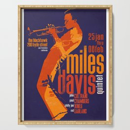 Miles Da-vis Retro Style Concert Poster Art Print Serving Tray