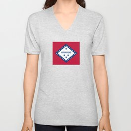 flag of arkansas-america,usa,The Natural State,Arkansan, Arkansawyer,Arkanite,Little Rock,Fort Smith Unisex V-Neck