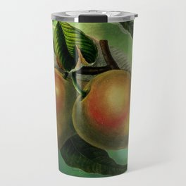 Bombay Mangos with Butterfly, Vintage Botanical Illustration Collage Art Travel Mug