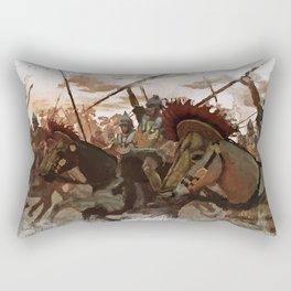 Ancient Warriors Rectangular Pillow