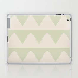 Geometric Pyramid Pattern - Soft Green Laptop & iPad Skin